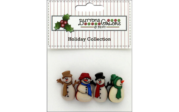 Buttons Galore Theme Button Holiday Old Fashion Snowman | Craftastic Cabin Inc