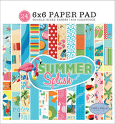 "Carta Bella SUMMER SPLASH Paper Pad 6""x 6"""