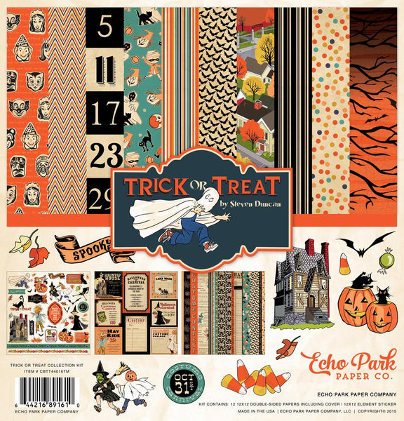 Carta Bella Trick or Treat 12x12 Page Kit | Craftastic Cabin Inc