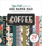 "Carta Bella COFFEE Paper Pad 6"" x 6"""