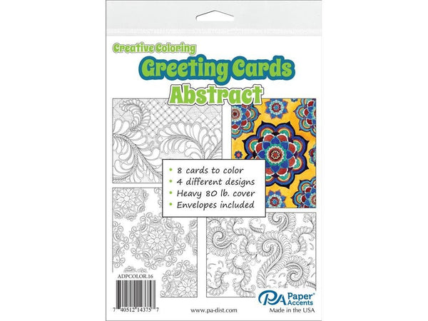 Paper Accents Creative Coloring ABSTRACT Cards & Envelopes 4.25