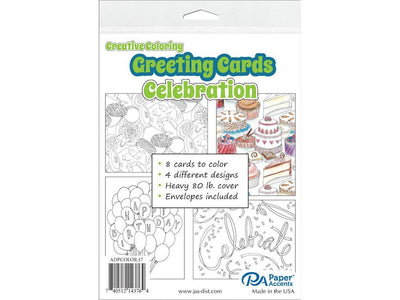 Creative Coloring CELEBRATION Cards & Envelopes 4.25