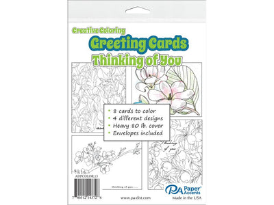 Creative Coloring Cards & Envelopes 4.25
