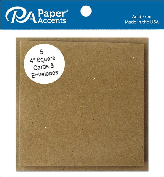 Paper Accents BROWN BAG Cards & Envelopes 4