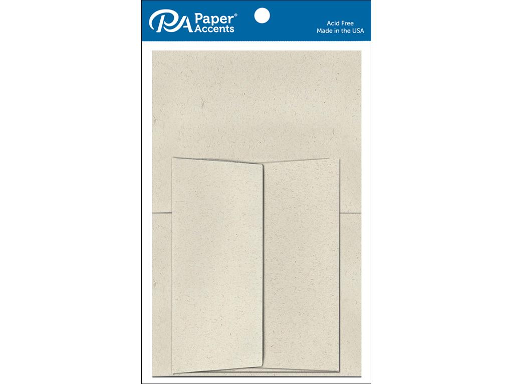 "Paper Accents 5""x7"" Cards & Envelopes 8pc Beach Sand"