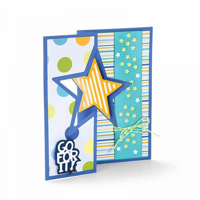 Sizzix Dies Stephanie Barnard Framelits Card Flip Its - Star