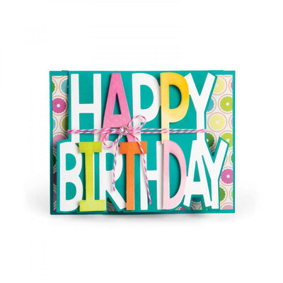 Sizzix Dies Stephanie Barnard Framelits Card Drop-ins Happy Birthday