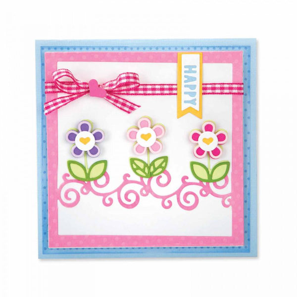Sizzix Dies Stephanie Barnard Framelits Card Front With Borders Drop-Ins - Craftastic Cabin Inc