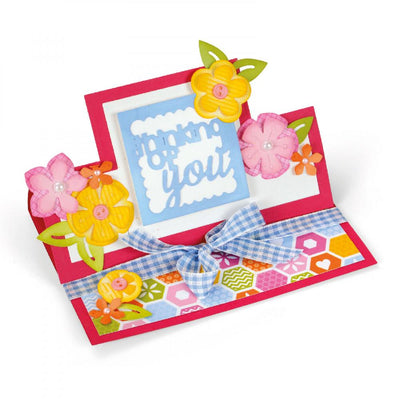 Sizzix Dies Stephanie Barnard Framelits Card Thinking of You Mini Stand-Ups