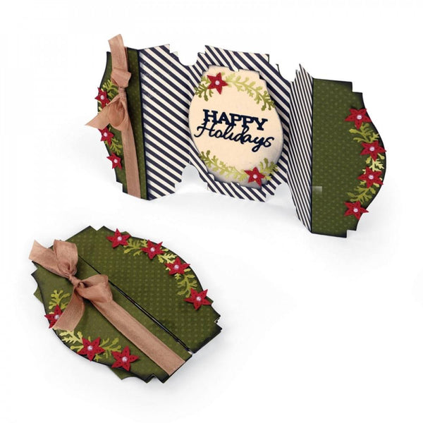 Sizzix Dies Jen Long Thinlits Fold A Long Happy Holidays - Craftastic Cabin Inc