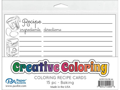Creative Coloring Recipe Cards 4
