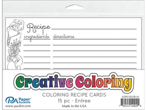 "Creative Coloring Recipe Cards 4""x6"""