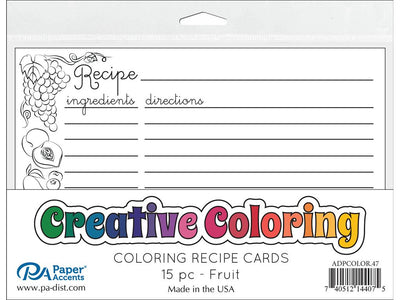 Paper Accents Creative Coloring Recipe Cards 4