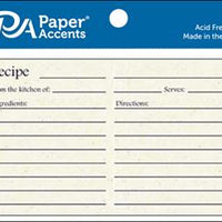 "Paper Accents Recipe Cards 4""x 6"" 25pk BIRCH"
