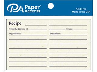 Paper Accents Recipe Cards 4