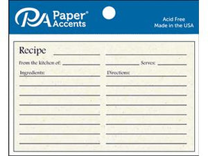 "Paper Accents Recipe Cards 4""x 6"" 25pk BIRCH 