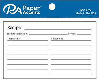 Paper Accents Recipe Card 4