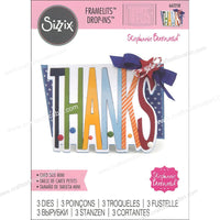 Sizzix Dies Stephanie Barnard Framelits Drop-In Mini Thanks 662258