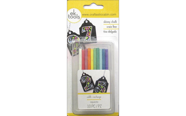 EK Chalk Refill Skinny 10pc refill - Primary Color | Craftastic Cabin Inc