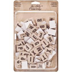Tim Holtz Idea-ology Alpha Chips Elementary | Craftastic Cabin Inc