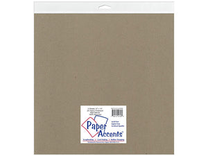 "Paper Accents Chipboard 12""x 12"" 2X Heavy 2pc 85pt Natural"