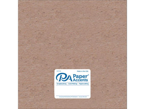 "Paper Accents Chipboard 12""x 12"" 1X Heavy 52pt Natural 5pc"