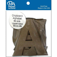 "Paper Accents Chip Shape Alphabet 4"" Block #2 Upper 40pc"