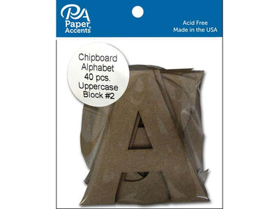 Paper Accents Chip Shape Alphabet 4