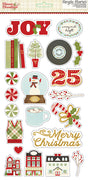 "Classic Christmas Sticker Chipboard 6""x12"""