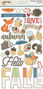 "Hello Fall Sticker Chipboard 6""x 12"""