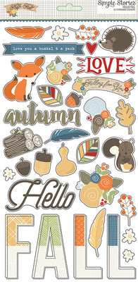 Hello Fall Sticker Chipboard 6