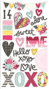 "Love & Adore Chipboard Stickers 6""x 12"""