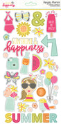 Sunshine & Happiness Sticker Chipboard