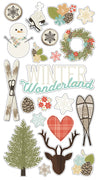 "Winter Wonderland Chipboard 6""x 12"""