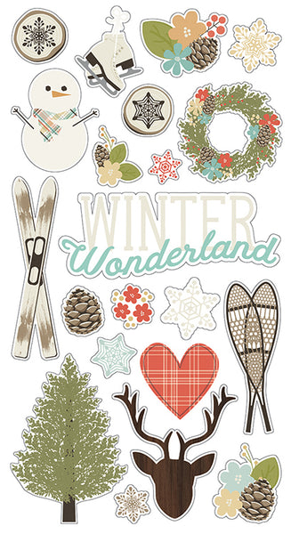 Simple Stories Collection Winter Wonderland Chipboard 6