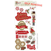 Holiday Cheer Christmas Chipboard Stickers