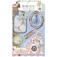 Bo Bunny Collection Butterfly Kisses Layered Chipboard