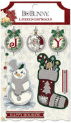 Bo Bunny Collection Tis The Season Layered Chipboard