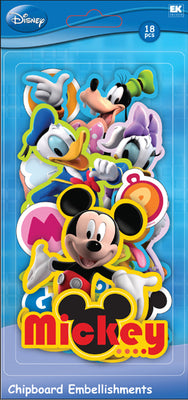 Mickey Friends Chipboard Embellishments