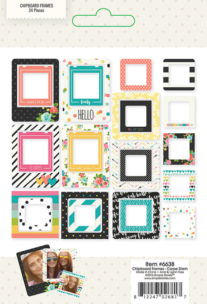 Simple Stories Collection Carpe Diem Chipboard Frames - Craftastic Cabin Inc