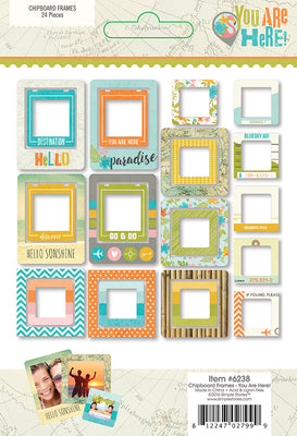 You Are Here Chipboard Frames Collection