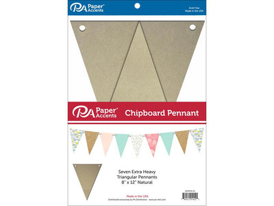 Paper Accents Chipboard Pennants 8
