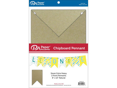 Paper Accents Chipboard Pennants 2 Point 8
