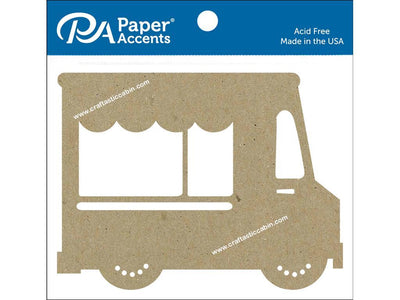 Paper Accents Chip Shape Food Truck Natural 4pc