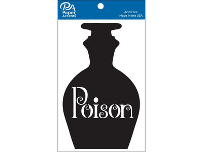 Paper Accents Chip Shape Poison Jar Black 4pc