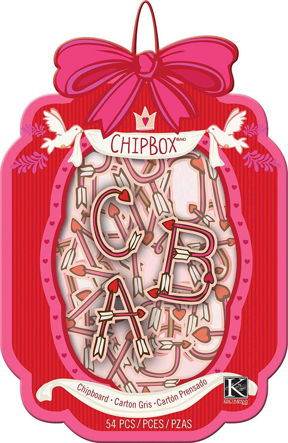 K&Company Chipboard Cupid Alphabet