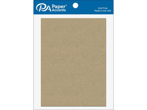 "Paper Accents Chip Shape 5.5""x 7.5"" Rectangle Natural 5pc"