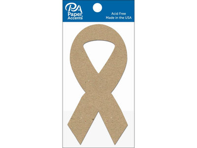 Paper Accents Chip Shape Cause Ribbon Natural 8pc