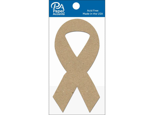 Paper Accents Chip Shape Cause Ribbon Natural 8pc | Craftastic Cabin Inc
