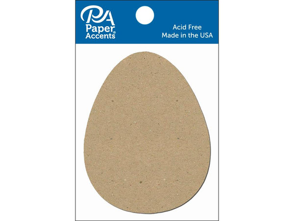 Paper Accents Chip Shape Egg Natural 8pc | Craftastic Cabin Inc